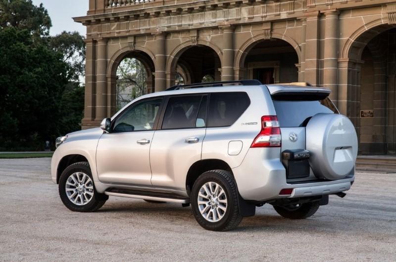 2020 Toyota Land Cruiser Prado Rear Angle Changes
