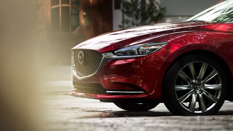 2021 Mazda 6 Front Side Angle Red Color