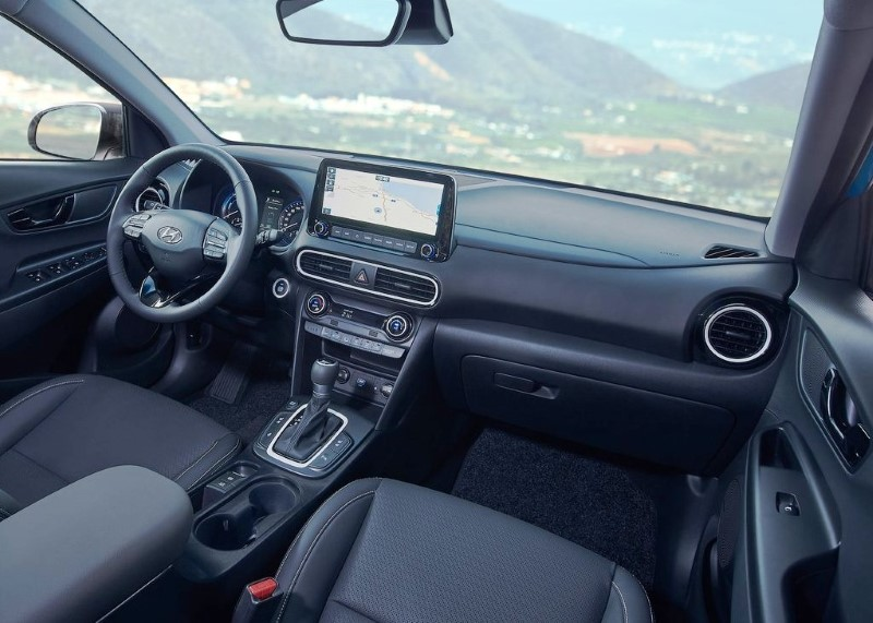 2021 Hyundai Kona Interior with Leather Seating