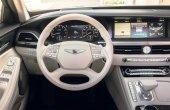 2021 Genesis G90 Interior White Steer and Dashboard