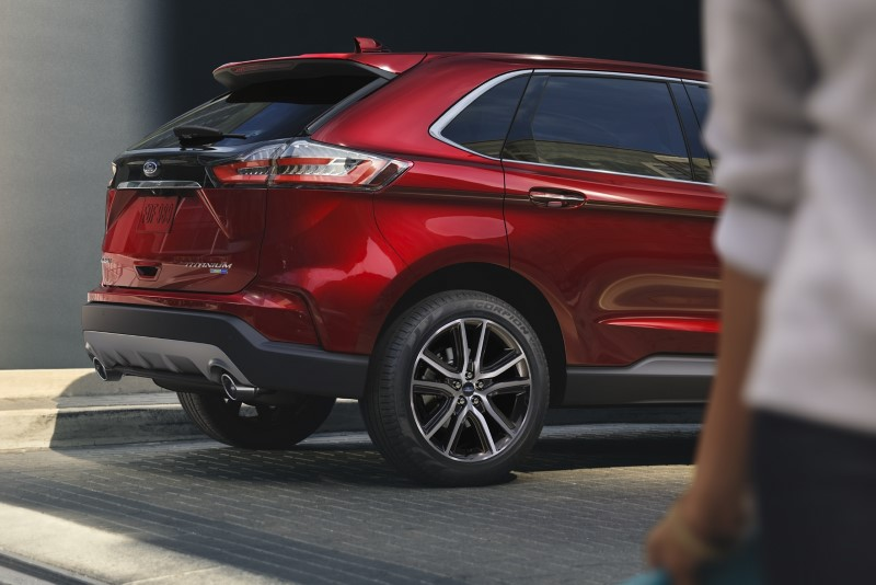 2021 Ford Edge Titanium Red Color With New tail Light and New Wheel Design