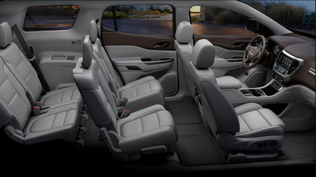2021 GMC Acadia Interior Capacity with 7 Passenger