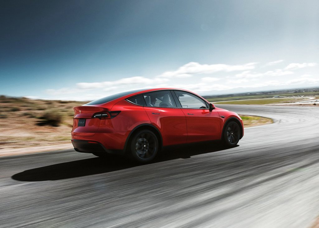 New Tesla Model Y Rede Colors