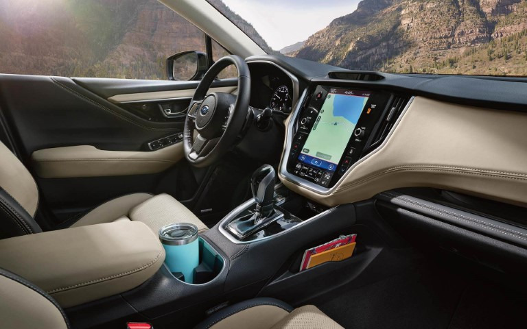 2021 Subaru Outback Hybrid Interior Pictures With Large Vertical LCD Screen