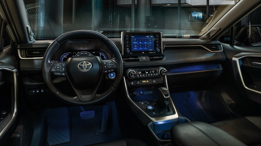 2022 Toyota RAV4 Hybrid Interior Cabin with Blue LED