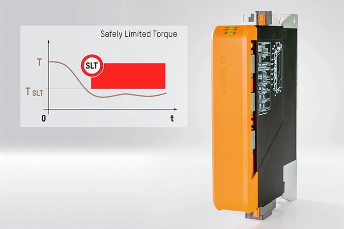 B&R의 ACOPOS P3 서보 드라이브에도 Safely Limited Torque (SLT) 안전 기능이 탑재되었다.