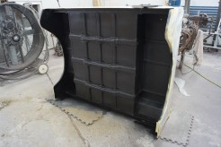 Underside of the rear body tub finished in a durable texture coat.