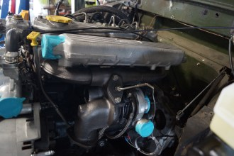 We removed the exhaust manifold & turbo, carefully cleaned and coated them.