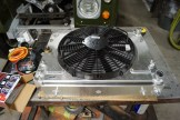 "Allisport radiator with Spal 14""fan."