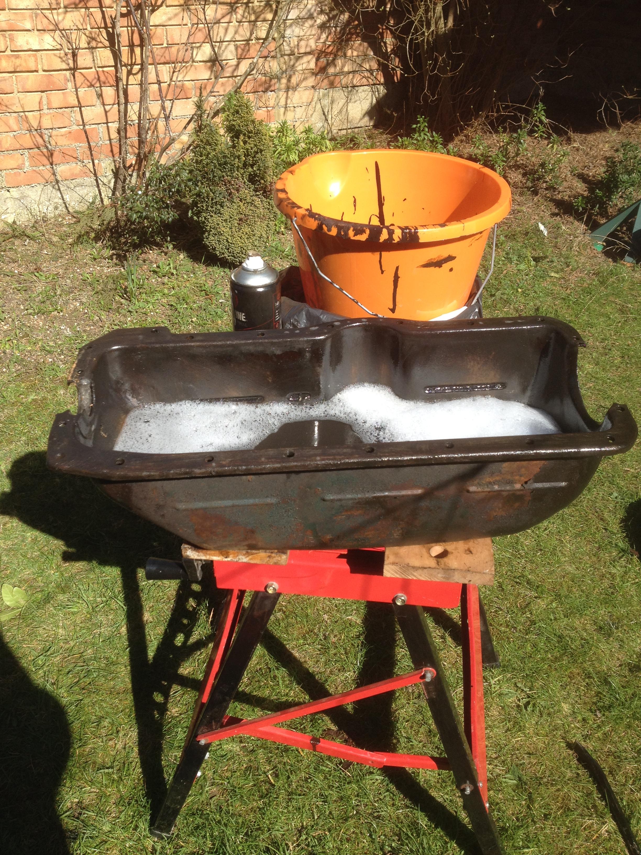 Oil Pan & Baffle Clean