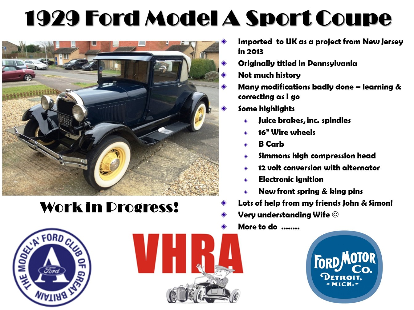 1929 Model A Sport Coupe at Wheels Day 2016