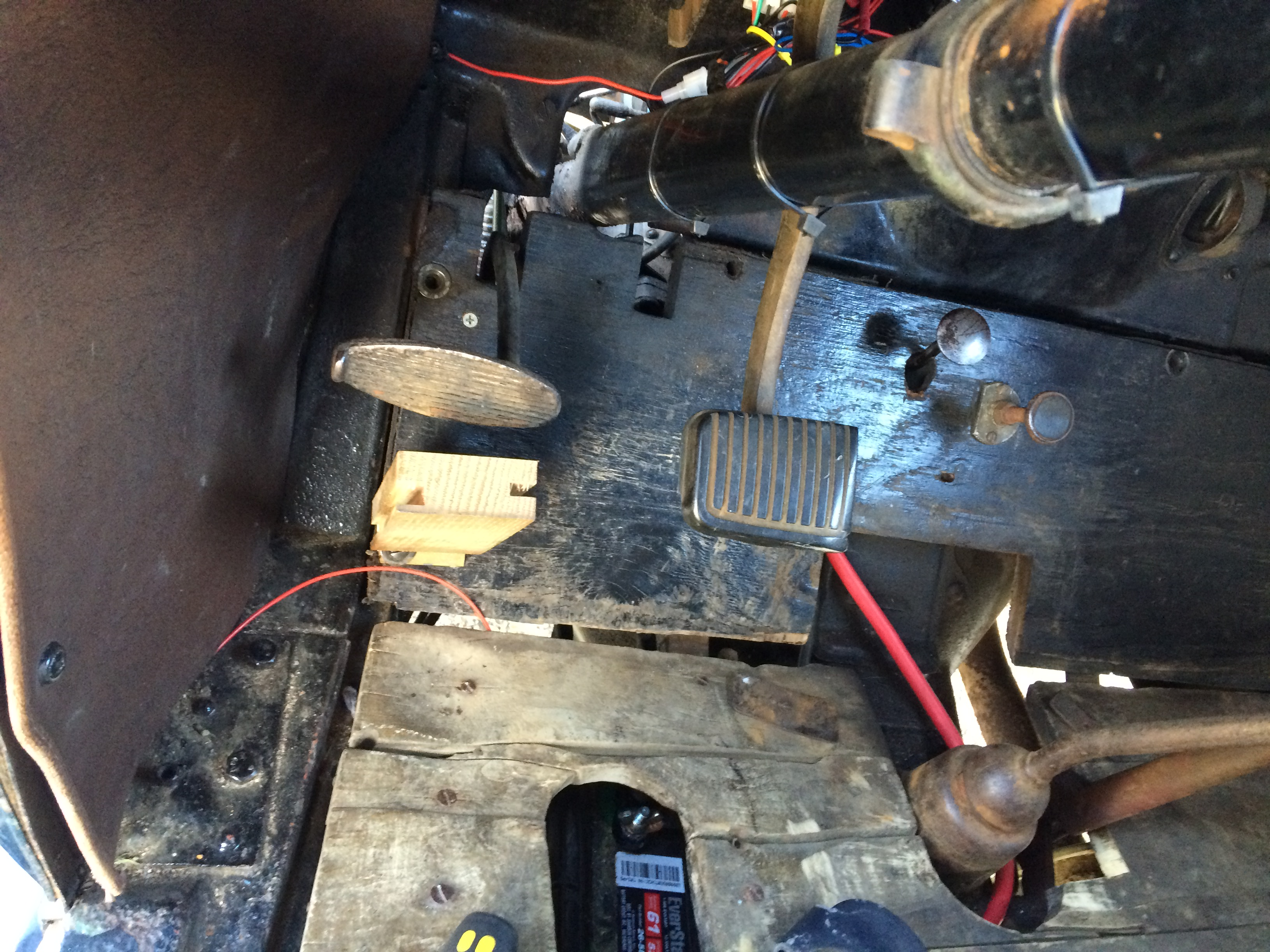 Remove steering column drop bracket 1929 Model A Ford Sport Coupe