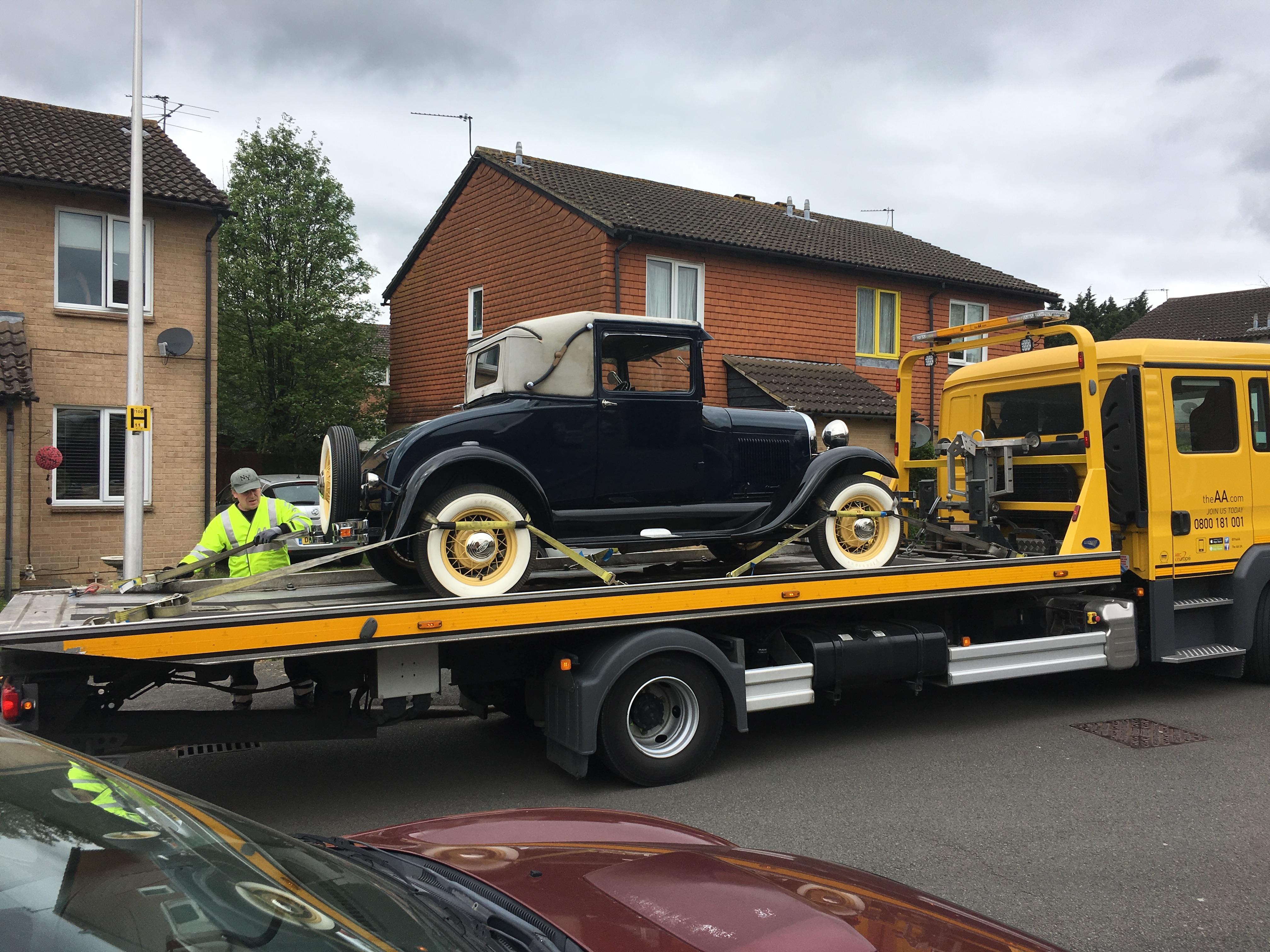 1929 Model A Ford Breakdown