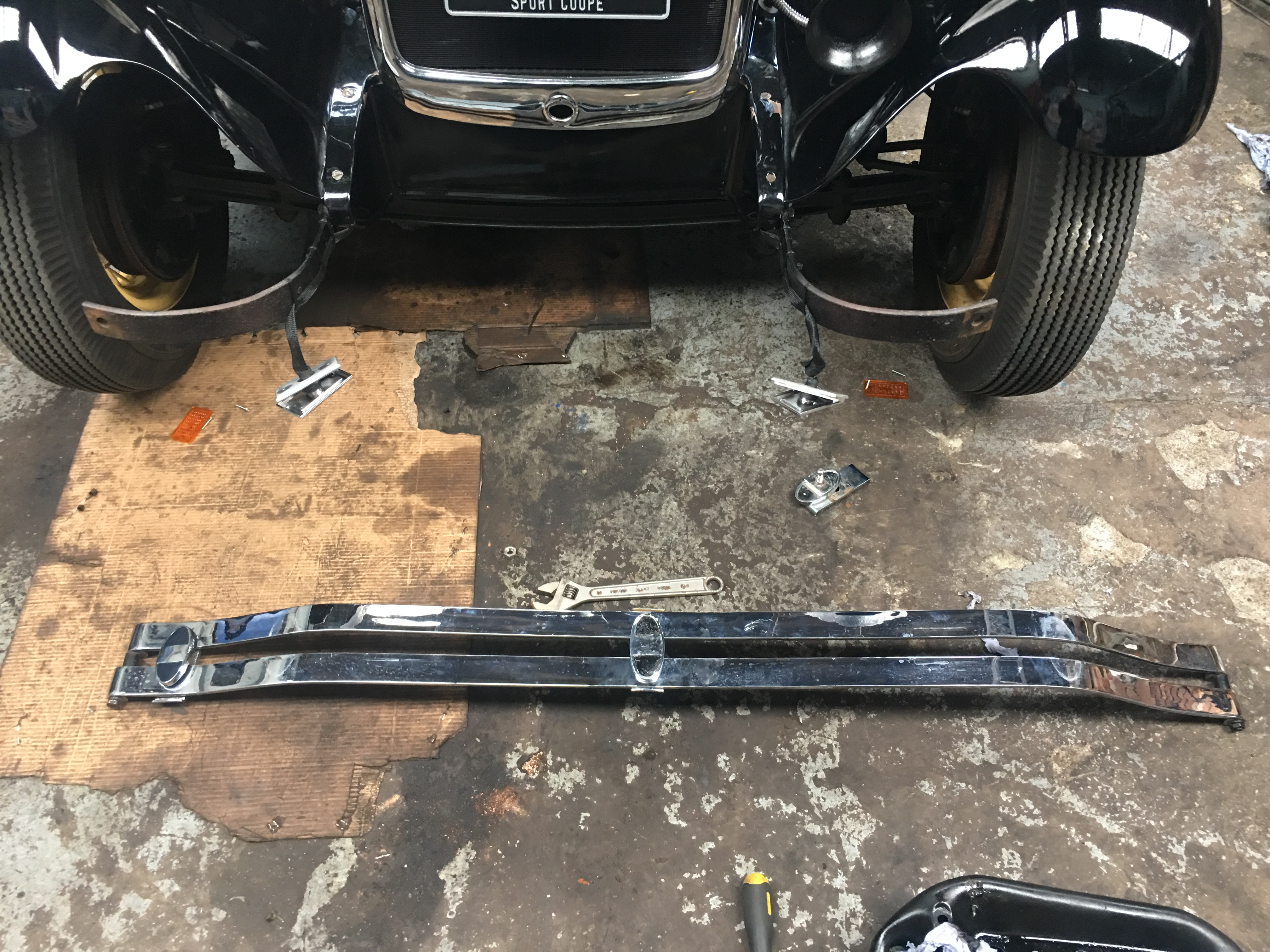Straightening the Front Bumper