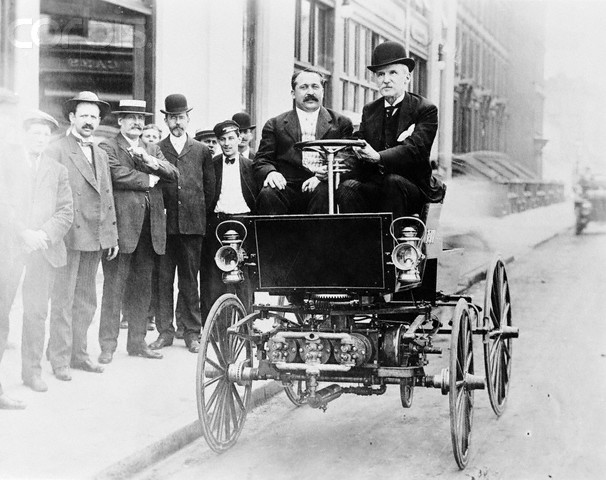 George B. Selden Driving Automobile