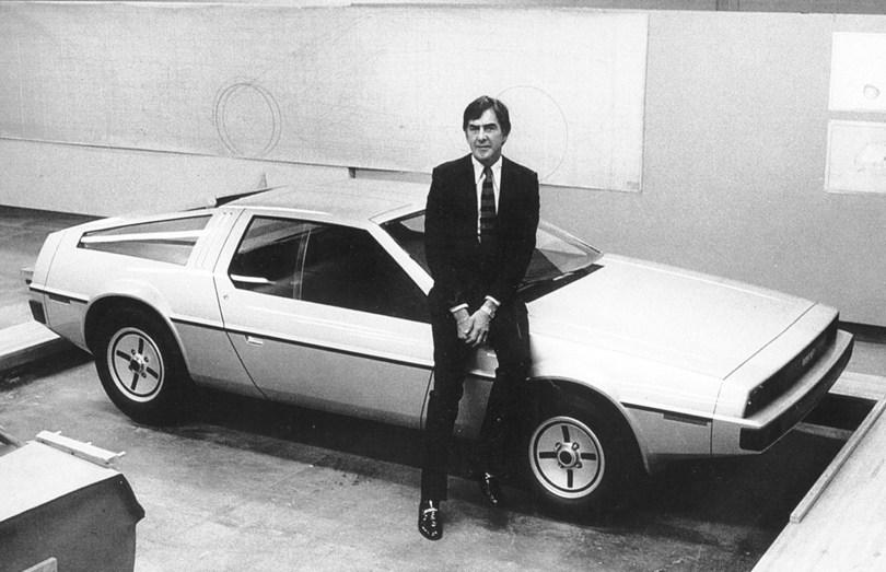 John DeLorean with his car.  PHOTO: DELOREAN MOTOR COMPANY