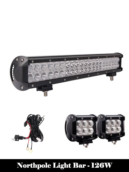 Northpole Light Bar - 126W-Top 10 Best LED Light Bars Reviews