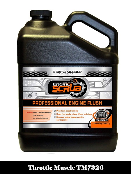 Throttle Muscle TM7326 - Engine Flush Oil System and Engine Crankcase Cleaner 128 Oz-Top 10 Best Engine Flushes for Cars Reviews
