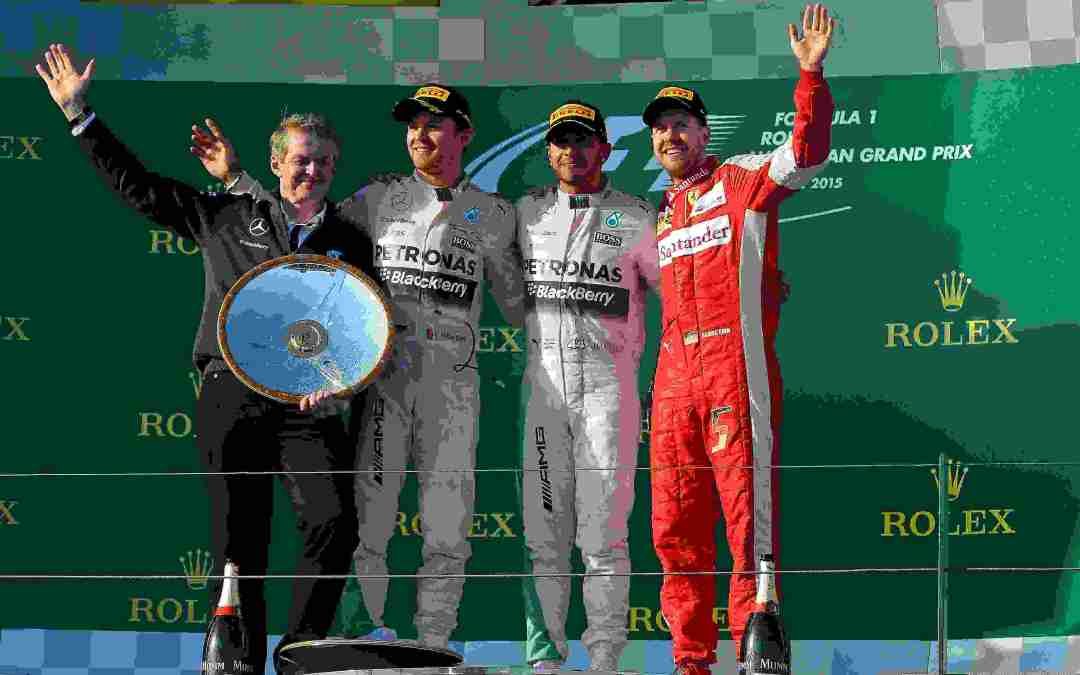 F1 Gp Australia – HAMILTON Vince e podio Ferrari con Vettel.