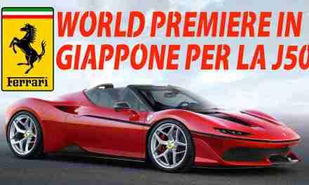 FERRARI: WORLD PREMIERE IN GIAPPONE PER LA NUOVA J50