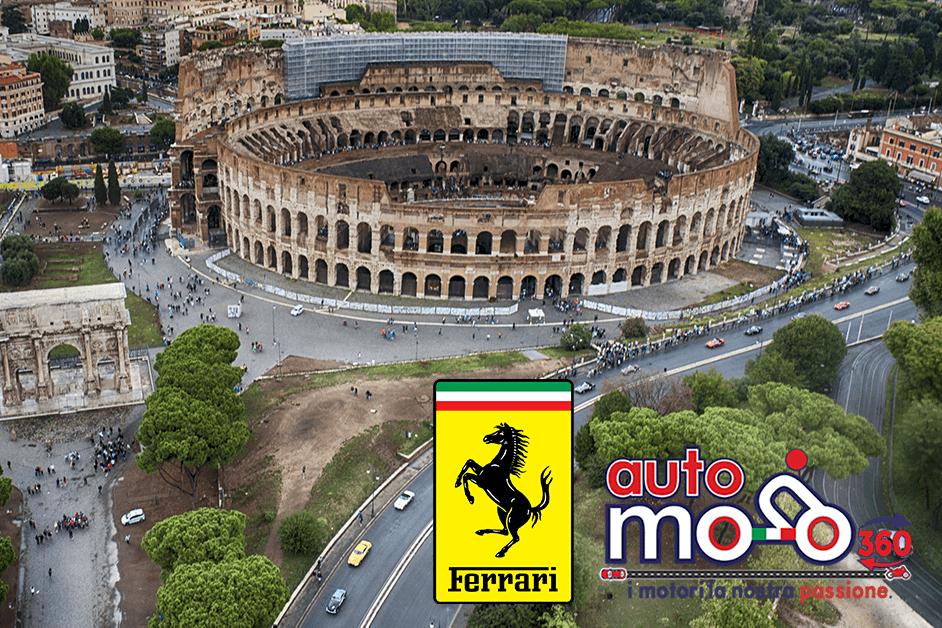 """FERRARI d'epoca: Conclusa a Roma la terza edizione della """"Cavalcade Classiche"""""""