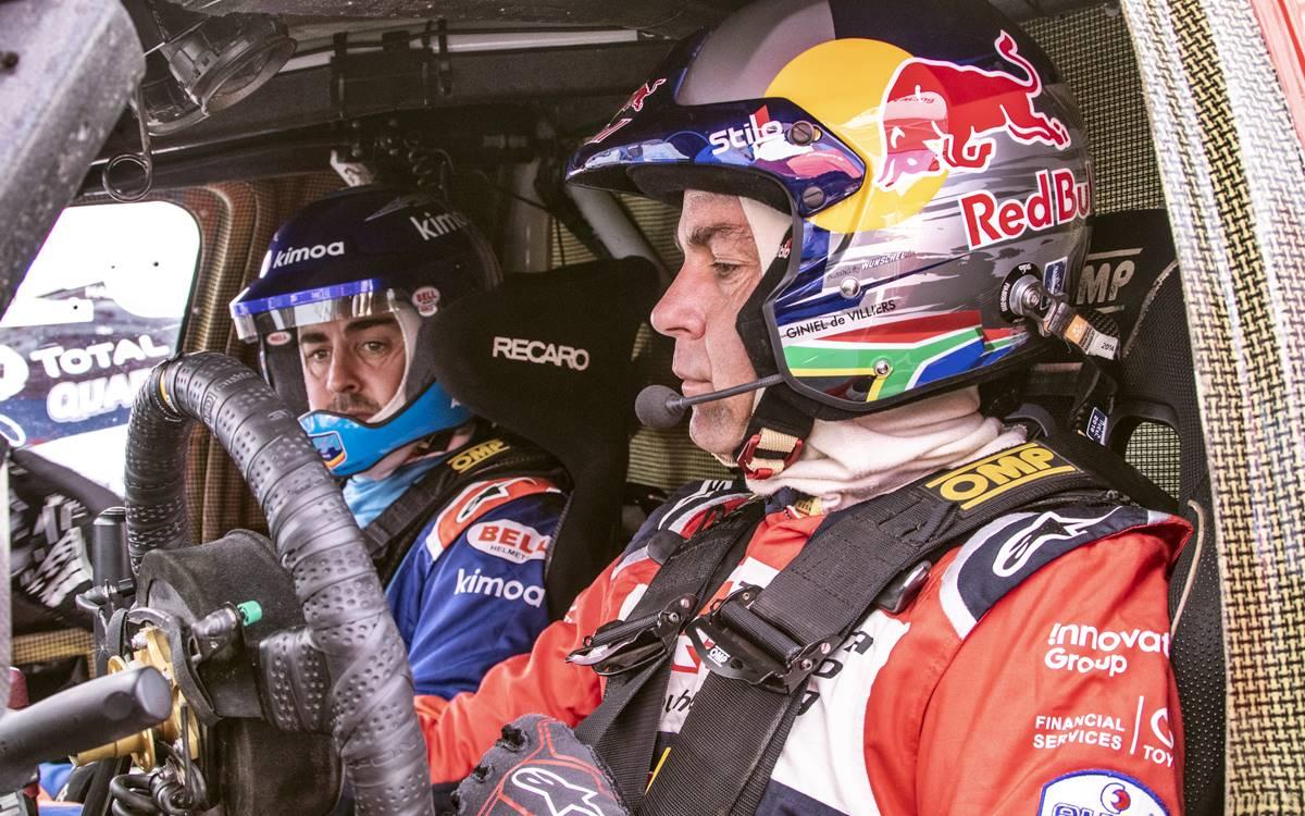 Fernando Alonso quedó conforme con su prueba dakariana con Toyota