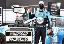 Photo of Kevin Harvick ganó en el regreso del NASCAR a la acción