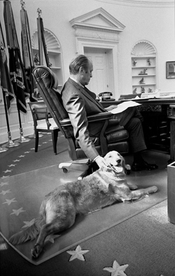 Ford with dog