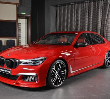 Imola Red BMW M760Li xDrive