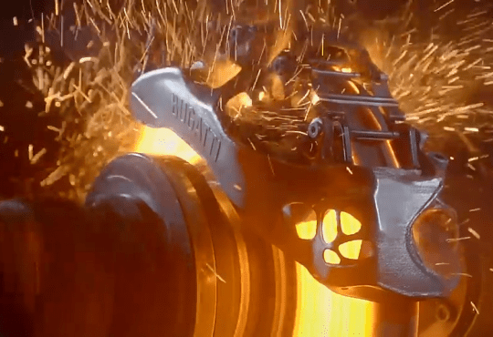bugatti 3d printed brake calipers testing