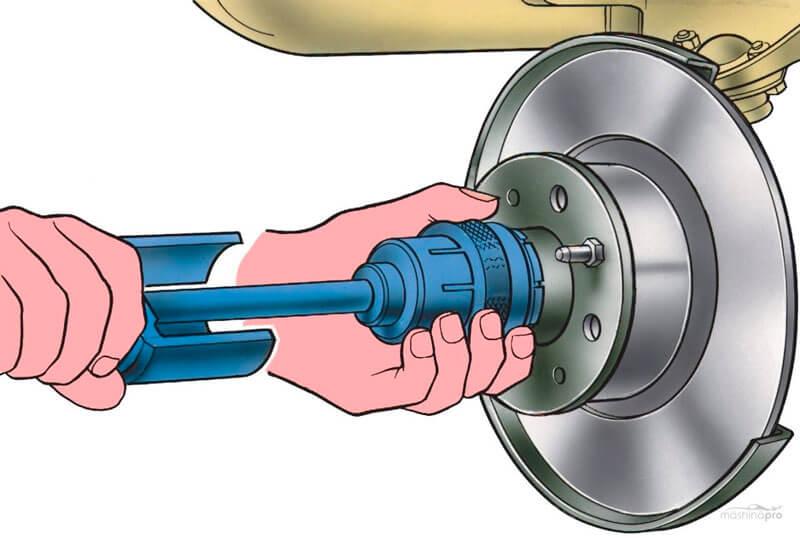 замена переднего ступичного подшипника
