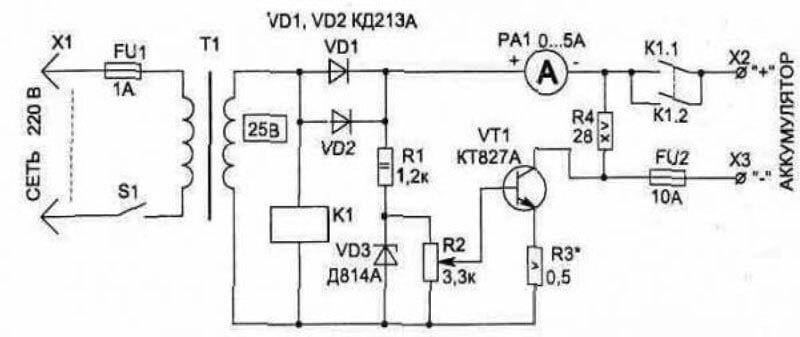 как сделать зарядное устройство для автомобильного аккумулятора