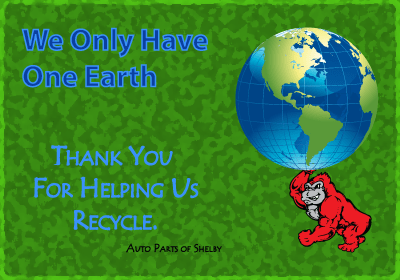 We Only Have 1 Earth; Thank You For Helping Us Recycle