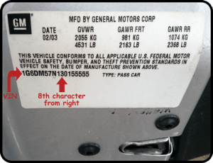 HOW TO DETERMINE THE YEAR MODEL OF A VEHICLE ⋆ Auto Parts