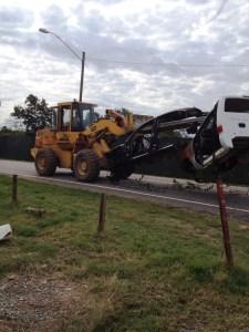 Forklift moving vehicle
