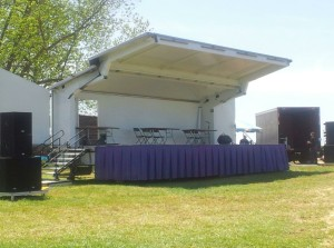 Our Mobile Stage set up on location