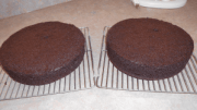 cooled cake layers