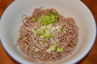 grannie geek japanese soba noodle salad