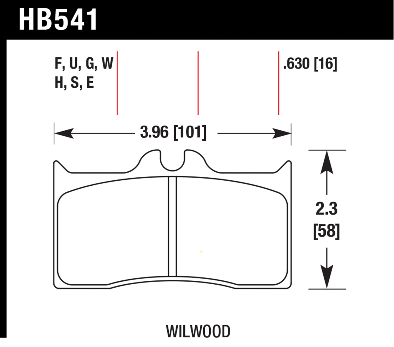 Hawk Hb541u 630 Dynamic Torque Control Brake Pads