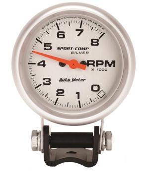 Auto Meter 3707 SportComp Silver Mini Tachometer