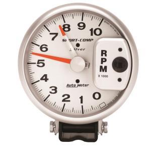 Auto Meter 3910 SportComp Silver Tachometer | Autoplicity