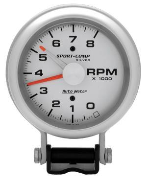 Auto Meter 3781 SportComp Silver Tachometer | Autoplicity