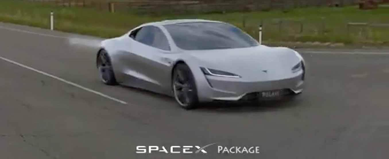 1.1-секундный запуск 0-60 миль / ч пакета Tesla Roadster SpaceX визуализируется в концептуальном видео