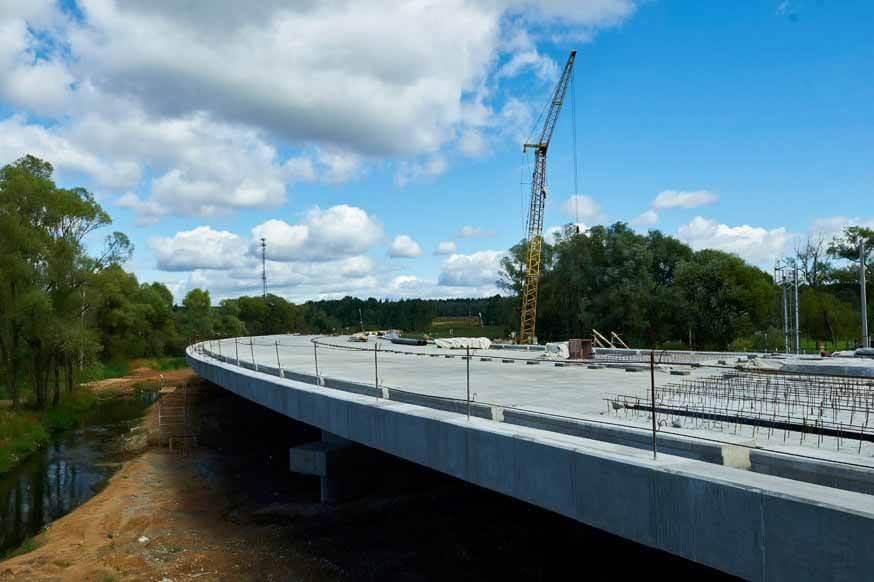 Новая кольцевая развязка на пересечении ЦКАД и Волги М-7 откроется до конца года