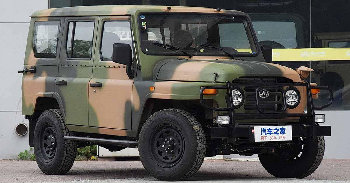 Китайцы начали продавать преемника ГАЗ-69 с новым турбомотором