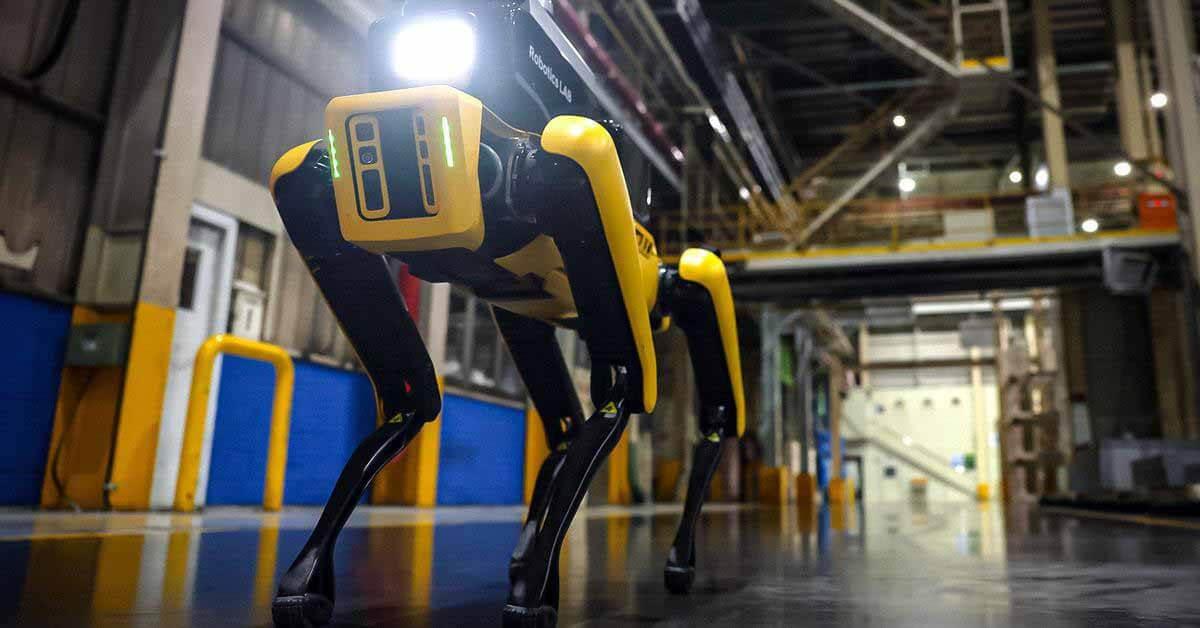 Робот Boston Dynamics Spot начинает работу на заводе Kia - Motor