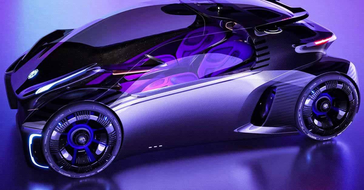 MG представляет прозрачный концепт-кар для геймеров с гигантским проекционным экраном