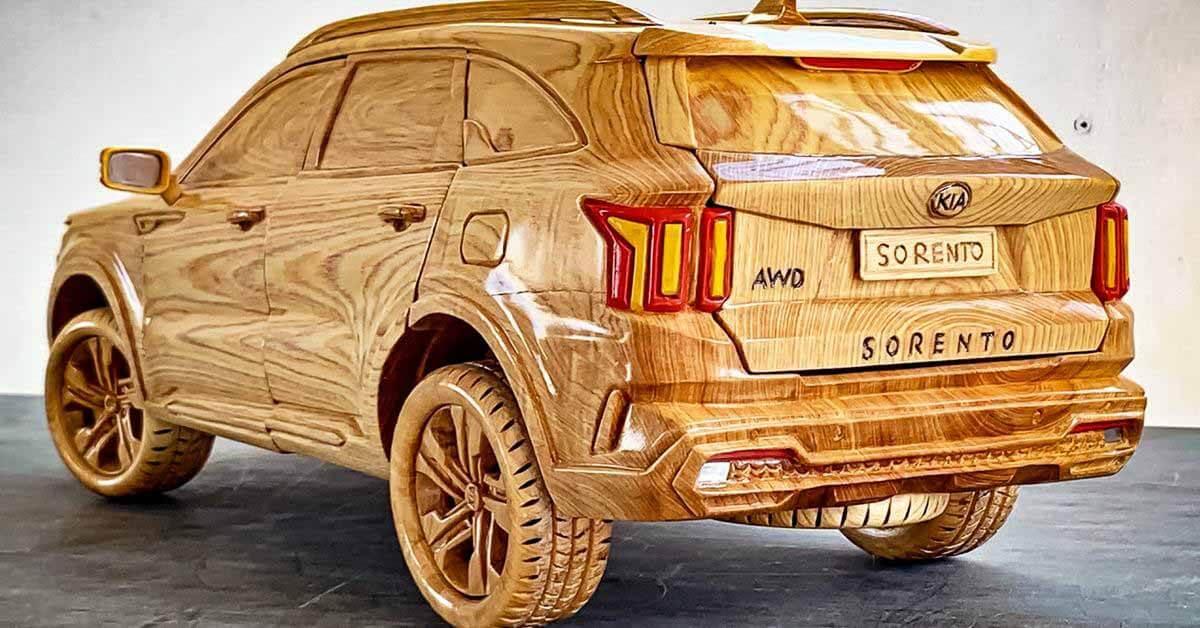 Посмотрите деревянную копию Kia Sorento, которую вы можете купить - Motor