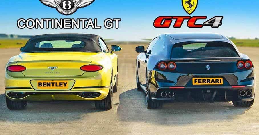 4WD Ferrari против кабриолета Bentley - Мотор