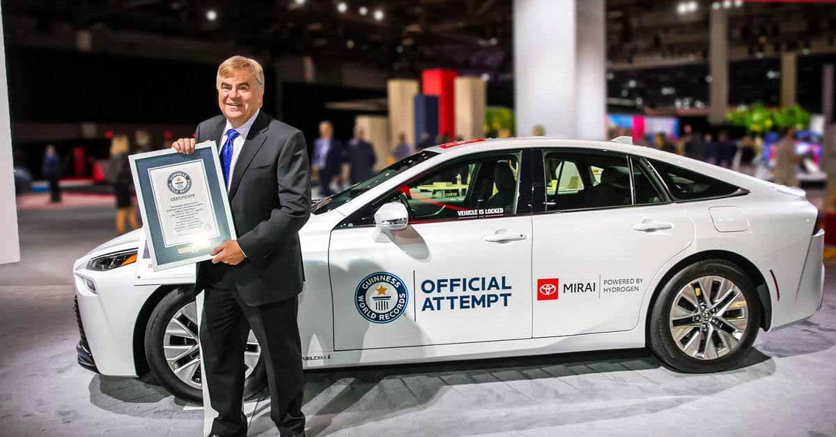 Водородная Toyota Mirai устанавливает новый рекорд дальности плавания - Motor